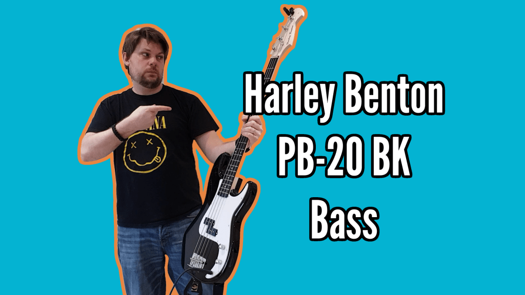 Harley Benton PB-20 BK Bass Demo And Review 1