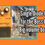An easy Boss DS-1 mod, clip 1 diode and get a massive volume boost!