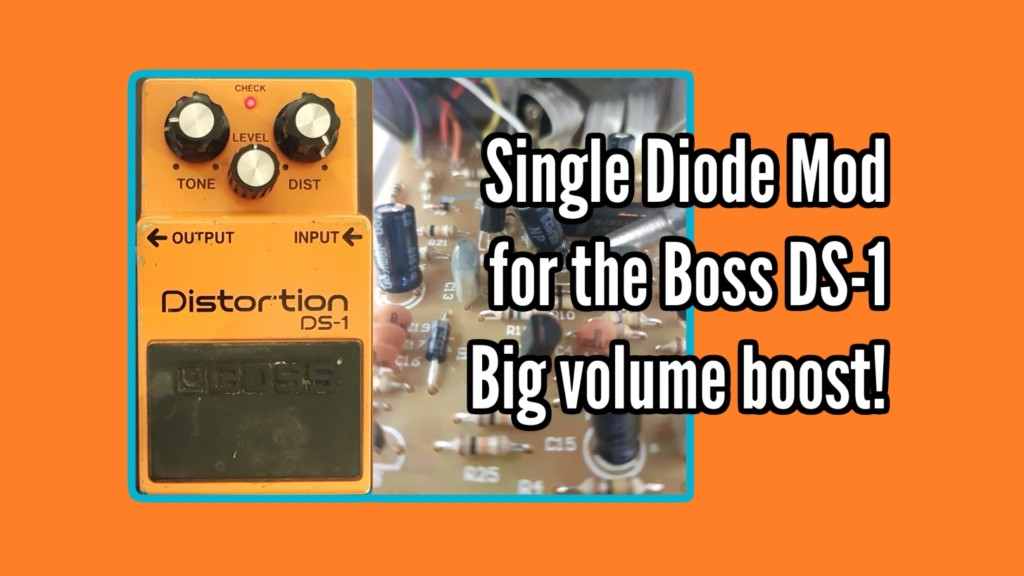 An easy Boss DS-1 mod, clip 1 diode and get a massive volume boost! 1