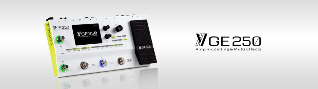 The Awesome Looking Mooer GE250 Amp Modeller and Multi Effects 1