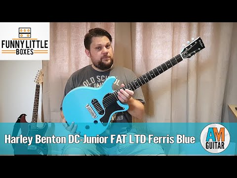 Harley Benton DC Junior FAT LTD Ferris Blue 1