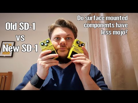 New vs Old Boss Super OverDrive SD-1 - Is Through Hole Better Than SMD? 1
