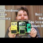 Comparing 3 Common Overdrives: SD-1 vs ODR1 vs Tube Screamer