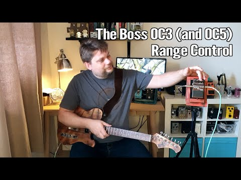 Boss OC3 and OC5 Octave Pedal Range Control 1
